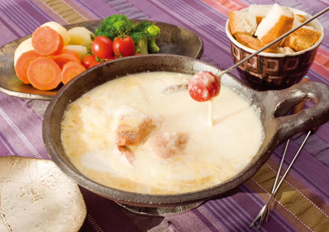 豆乳とチーズのとろ〜り鍋