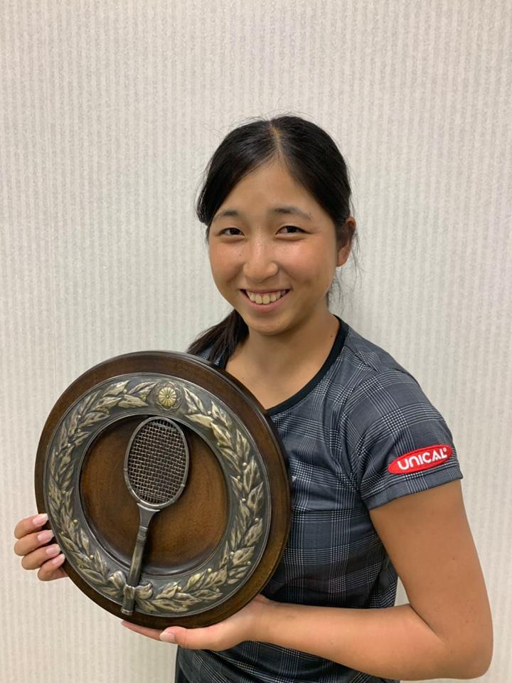 清水綾乃選手!全日本テニス選手権93rd 優勝致しました!