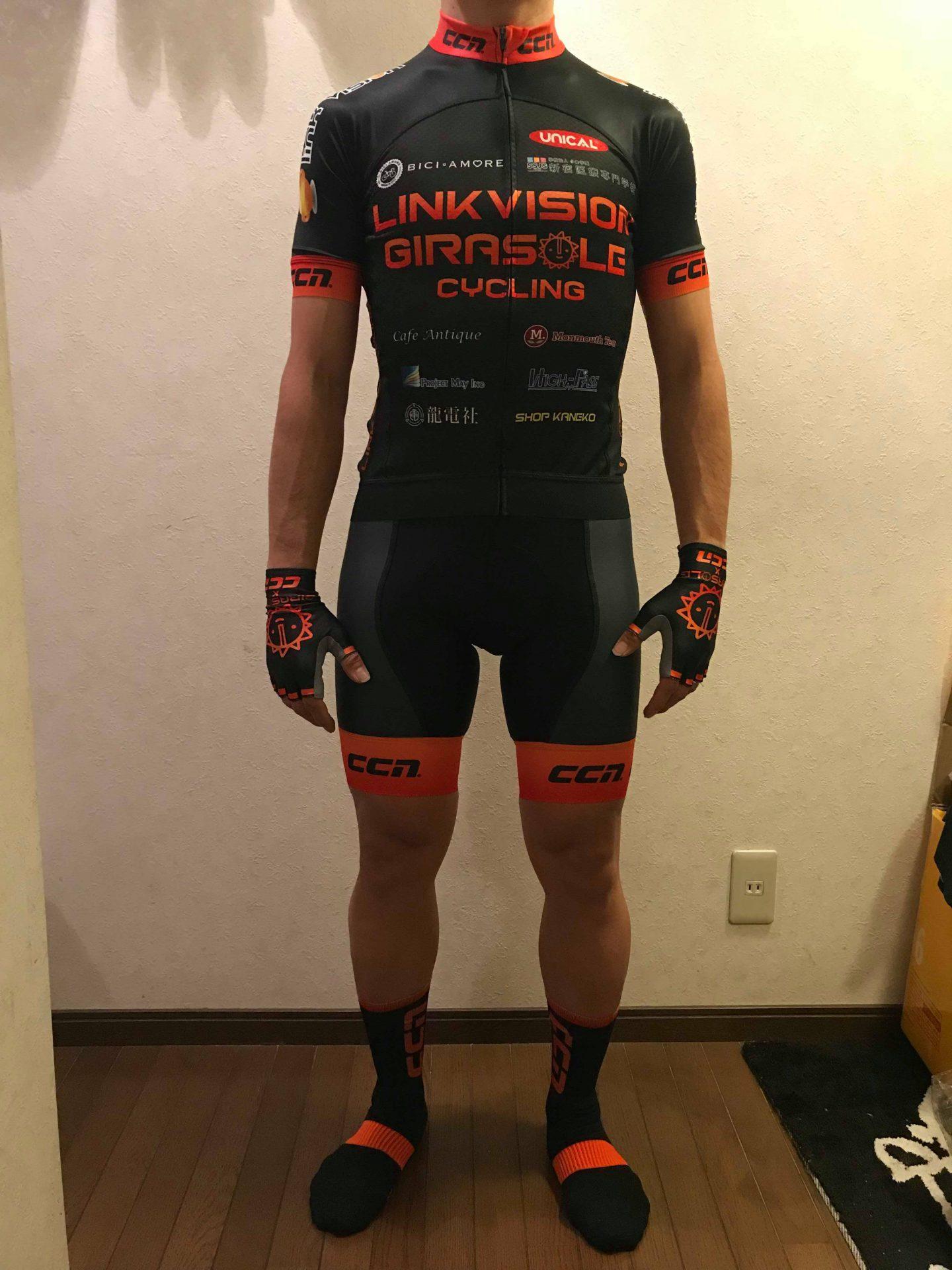 ロードレース実業団「LINKVISION GIRASOLE CYCLING」チームのユニフォームにユニカルロゴが入りました!